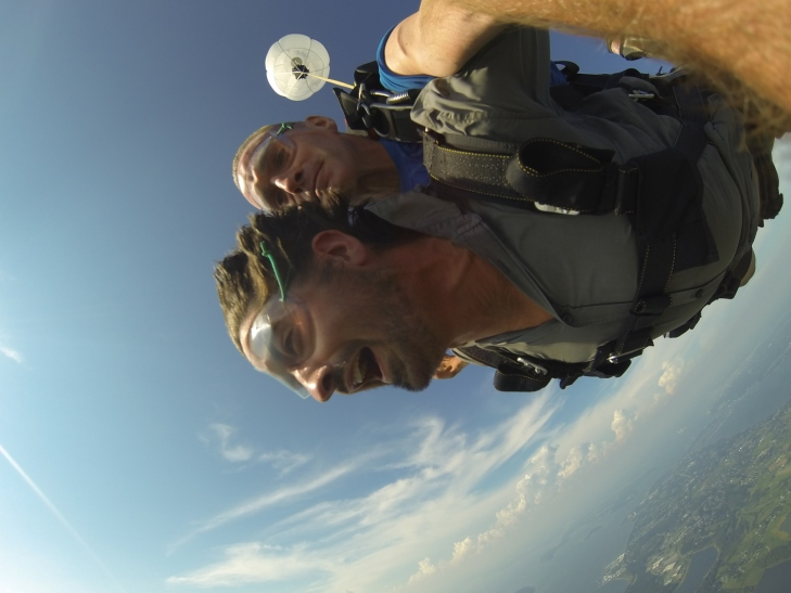 sam sky diving